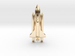 Space+Shuttle+Atlantis+3 in 14k Gold Plated Brass