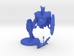 "Gagoism™ ""Viking Knight"" in Blue Processed Versatile Plastic"