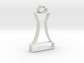 Cookie Cutter - Chess Piece King in White Natural Versatile Plastic