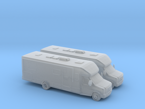 1/148 2X Ford E Series RV in Smooth Fine Detail Plastic