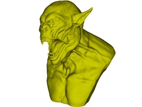 1/9 scale Orc daemonic creature bust A in Smooth Fine Detail Plastic