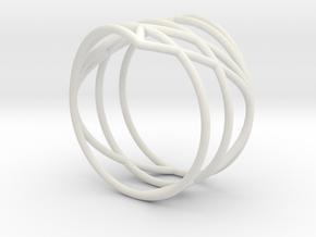 23 Ring 17,20mm in White Natural Versatile Plastic