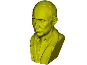 1/9 scale Vladimir Putin president of Russia bust in Smooth Fine Detail Plastic