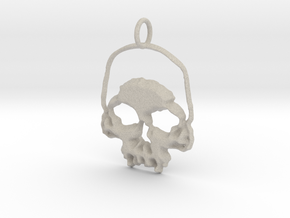 Skull Light Pendant in Natural Sandstone