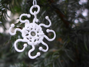 Discalia Ornament - Science Gift in White Processed Versatile Plastic