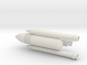 Shuttle C (Scale 1:400) in White Natural Versatile Plastic
