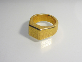 gent's ring in Polished Silver