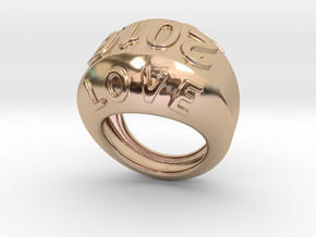 2016 Ring Of Peace 15 - Italian Size 15 in 14k Rose Gold Plated Brass
