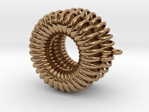 TORUS - earrings in Polished Brass