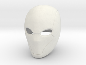 Red Hood helmet V2 in White Natural Versatile Plastic