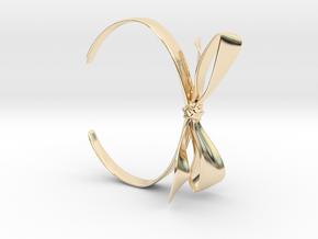 Ribbon Bracelet in 14k Gold Plated Brass