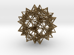 Stellation of a Rhombic Triacontahedron in Polished Bronze