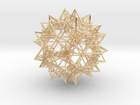 Stellation of a Rhombic Triacontahedron in 14k Gold Plated Brass