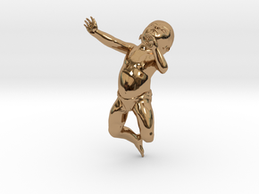 3D Crawling Baby in Polished Brass
