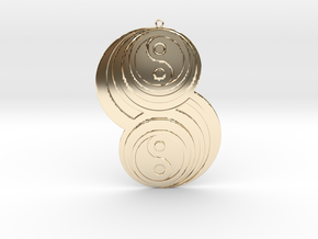 Pendant crop circles in 14k Gold Plated Brass