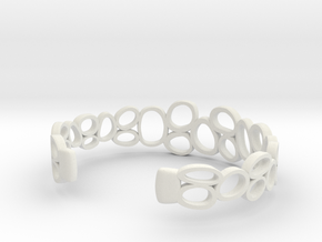 Rings and Things Bracelet in White Natural Versatile Plastic