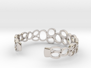 Rings and Things Bracelet in Rhodium Plated Brass