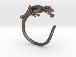 Gekko Wraparound Ring in Polished Bronzed Silver Steel