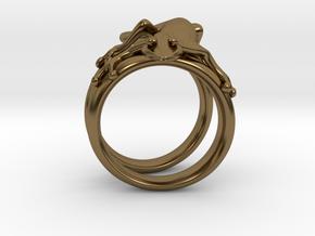 Gekko Ring in Polished Bronze