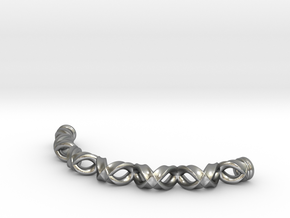 Double Helix Bracelet in Natural Silver