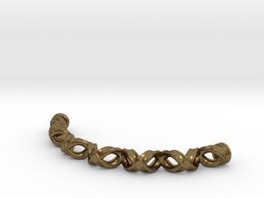Double Helix Bracelet in Natural Bronze