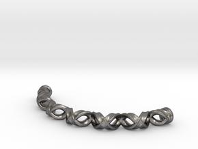 Double Helix Bracelet in Polished Nickel Steel