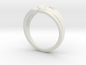 Marudai ring in White Natural Versatile Plastic