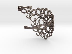 Arabesque Bracelet in Polished Bronzed Silver Steel