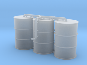 N Scale Concrete Plant Silos in Smooth Fine Detail Plastic