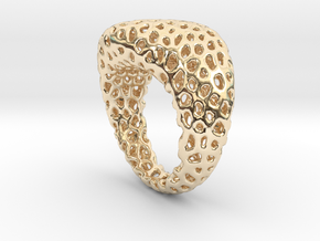 Swing ring T20 in 14k Gold Plated Brass