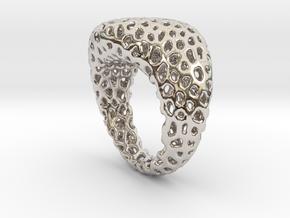 Swing ring T20 in Rhodium Plated Brass