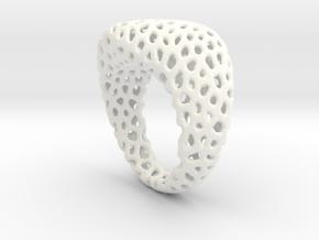 Swing ring T20 in White Processed Versatile Plastic