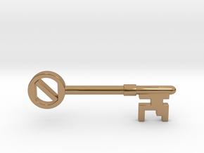 "Gold ""Oz"" Key Pendant in Polished Brass"