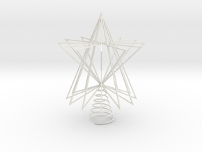 Christmas Tree Star  in White Natural Versatile Plastic