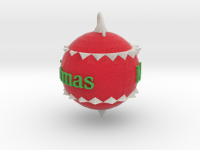 Christmas Ornament in Full Color Sandstone