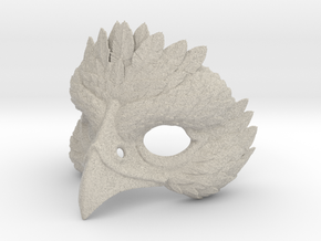 Bird Mask in Natural Sandstone