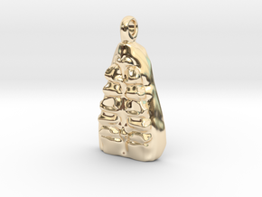 Crew Pendant in 14k Gold Plated Brass