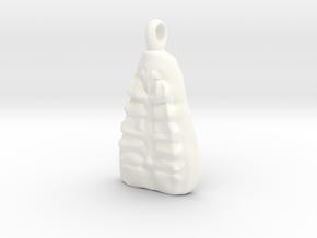 Crew Pendant in White Processed Versatile Plastic