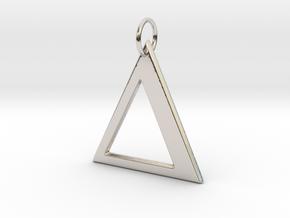 Delta Pendant in Platinum