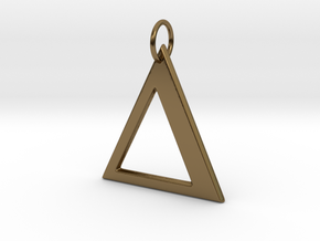 Delta Pendant in Polished Bronze