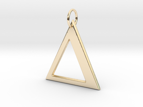Delta Pendant in 14k Gold Plated Brass