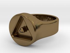 US8 Ring XXIII: Tritium in Polished Bronze