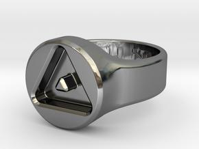 US8 Ring XXIII: Tritium in Fine Detail Polished Silver