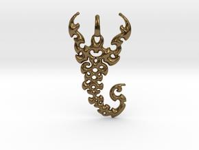 Scorpio Pendant in Polished Bronze