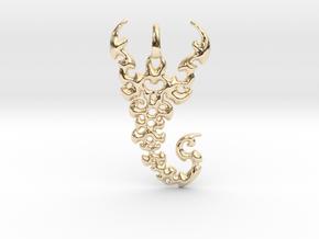 Scorpio Pendant in 14k Gold Plated Brass