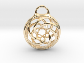 Vortex Pendant in 14K Yellow Gold