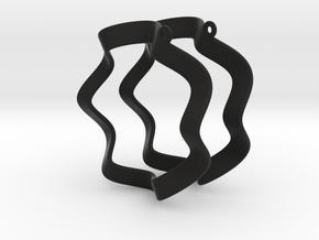 Orecchino Onda Coppia in Black Natural Versatile Plastic