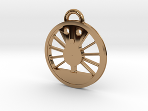 #611 J Class Driver Necklace in Polished Brass