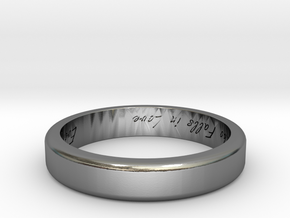 Engraved Standard Sized ring in Polished Silver