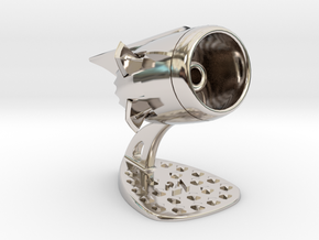 Jet Engine Desk Display [21 Stars] in Rhodium Plated Brass